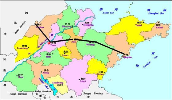 潍坊市位于山东半岛中部,辖4区、6市、2县、三个市属开发区,总面积1.58万平方公里,人口852.2万,是世界风筝都和中国优秀旅游城市。   潍坊是山东半岛的交通枢纽。境内有济青、潍莱、东青三条高速公路和胶济、胶新、大莱龙、益羊、青临五条铁路,全市公路通车里程7616公里,其中高速公路205公里。有潍坊港、羊口港两个国家二类开放口岸。潍坊机场已开通北京、上海、广州、海口等航线,是全国四大航空邮件处理中心之一。潍坊到济南、青岛机场仅一个多小时的车程。 潍坊物产丰富、资源充足。全市平原和沿海低地占总面积的三分