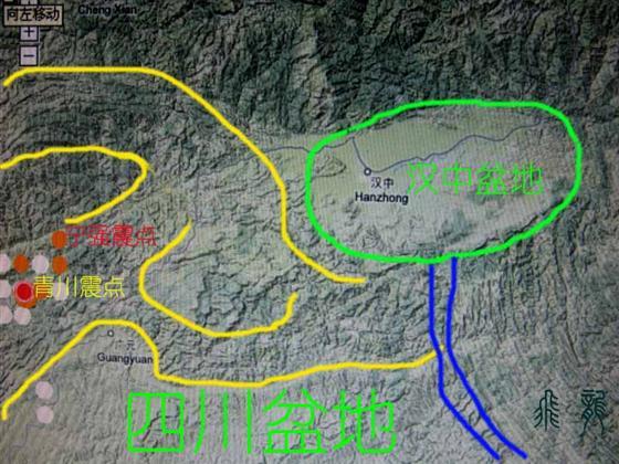 汉中平原地图